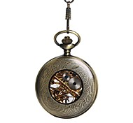 Large Bronze Chain Double-Sided Hollow-Out Smooth Your Mechanical Pocket Watch