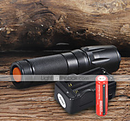 Flashlight Kits LED 2200 Lumens 5 Mode Cree XM-L T6 18650 Adjustable Focus Camping/Hiking/Caving Everyday Use Working Aluminum alloy