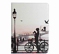 For Card Holder Wallet with Stand Flip Pattern Case Full Body Case City View Hard PU Leather for Apple iPad Pro 9.7'' iPad Air 2 iPad Air