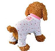 Собаки Комбинезоны Пижамы Одежда для собак Милые На каждый день Фрукты Розовый
