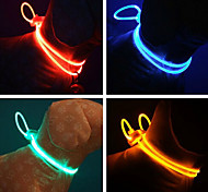 Cat Dog Collar Reflective Adjustable/Retractable Running Hands free Safety Solid Plastic Rubber   Random Color
