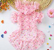 Cat Dog Rain Coat Dog Clothes Winter Summer Spring/Fall PrincessCute Sports Classic Fashion Casual/Daily Birthday Holiday Wedding