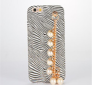 For DIY Pearl Bracelet Case Back Cover Case Leopard Print Hard PU Leather for Apple iPhone 7 7 Plus 6s 6 Plus