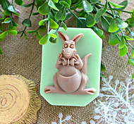 Kangaroo Shape Soap Mold DIY Silicone Soap Mold Handmade Soap Salt Carved DIY Silicone Food Grade Silicone Mold