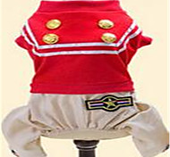 Dog Clothes/Jumpsuit Dog Clothes Spring/Fall British Cute