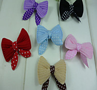 Cat Dog Hair Accessories Multicolor Dog Clothes Winter Summer Spring/Fall Bowknot Cute Fashion Birthday Wedding New Year's    Ten Pieces Per Pack