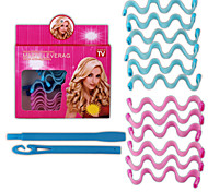 12Pcs Set Newly Arrive High Quality Beauty Watermark Shaped Manually Curlers Not To Hurt The Hair Curlers Makeup Hair Curlers