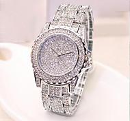 Жен. Модные часы Часы со стразами Кварцевый сплав Группа С подвесками Золотистый Розовое золото