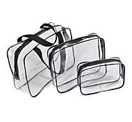 3PCS Travel Bag Luggage Organizer / Packing Organizer Moistureproof/Moisture Permeability Waterproof Portable Ultra Light(UL) forTravel