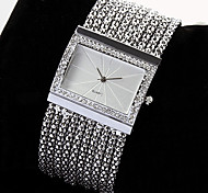 New Fashion Luxury Ladies Watch Quartz Women's Silver Tone Band Rhinestone Bangle Charm Bracelet Watch  relogio feminino