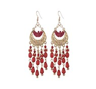 Drop Earrings Jewelry Rhinestones Geometric Bohemian Resin Alloy Line Jewelry For Party Daily Casual 1 pair