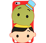For Pattern Case Back Cover Case 3D Cartoon Soft Silicone for Apple iPhone 7 Plus iPhone 7 iPhone 6s Plus iPhone 6 Plus iPhone 6s iPhone 6