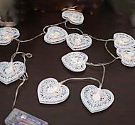 3W W Cuerdas de Luces lm <5V 1.2 m 10 leds Blanco cálido