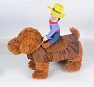 Коты Собаки Костюмы Одежда для собак Лето Весна/осень Джинсы Милые Косплей ковбой Мода Многоцветный