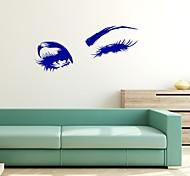 Hot Selling Pretty FemaleEyesWallStickerVinyl Decal For Bedroom Art Decoration RemovableWallMural