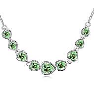Women's Pendant Necklaces Crystal Heart Chrome Unique Design Personalized Jewelry For Graduation Gift 1pc