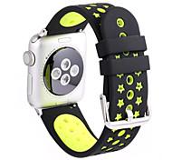 para el reloj de Apple iWatch serie correa 2 1 deportes de silicona banda de la aptitud de reemplazo 38mm 42mm