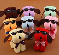 1Pcs  Serviette  Plage Microfiber Towel Hot New Dog Cake Shape  Sun Glasses Towel Cotton Washcloth Wedding Gifts