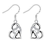 Жен. Серьги-слезки Кристалл Мода Серебрянное покрытие В форме сердца Бижутерия Назначение Свадьба Для вечеринок Повседневные