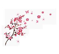 Романтика Цветы Пейзаж Наклейки Простые наклейки 3D наклейки Декоративные наклейки на стены Свадебные наклейки,Бумага Винил материал