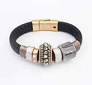 Women's Leather Bracelet Jewelry Fashion Leather Alloy Irregular Jewelry For Party Special Occasion Gift 1pc