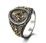 Муж. Массивные кольца Кольцо Хип-хоп Rock Euramerican бижутерия Мода Панк По заказу покупателя Титановая сталь Бижутерия Бижутерия