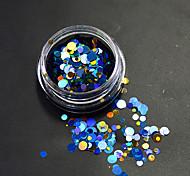 1 бутылка мода красочный смешанный размер сверкающий гвоздь искусство блеск лазер круглый блестка украшения ногтей красота красоты DIY