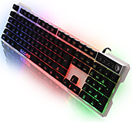 SADES Light Language Computer USB Gaming Keyboard with 7-colors Backlight 104 Keys For LOL Dota