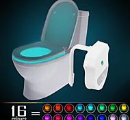 Ywxlight® ip65 16 colores movimiento activado luz de la noche de noche caber cualquier cuarto de baño-agua-resistente luz de la noche de