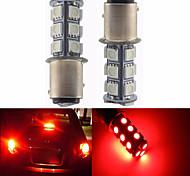 2pcs 1157 18 * 5050 smd ha condotto la luce rossa del lulb dell'automobile dc12v