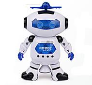 Espaço dança música infravermelho robô elétrico brinquedo girar 360 graus luzes