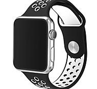 Faixa de relógio de substituição para maçã relógio série 1&2 soft tpu 42 milímetros dupla cor esporte