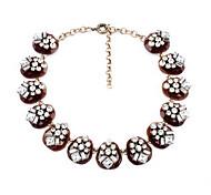Women's Strands Necklaces Geometric Chrome Unique Design Personalized Light Brown Jewelry For Housewarming Congratulations Casual