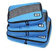 3 PCS Set Foldable Portable Large Capacity Durable Net Fabric Polyester Travel Bag Storage Luggage Accessory