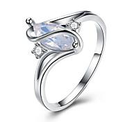 Ring Rhinestone Euramerican Stainless Steel Geometric Jewelry Ring For Wedding