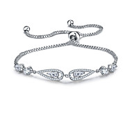 Women's Chain Bracelet Friendship Fashion Zircon Drop Jewelry For Anniversary Gift Valentine Christmas Gifts 1pc