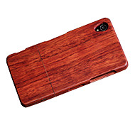 CORNMI For Sony Xperia M4 Aqua Wood Bamboo Cover Case Cell Phone Wooden Houising Shell Protection