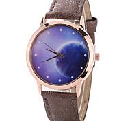 Women's Fashion Watch Wrist watch Casual Watch Quartz PU Band Charm Unique Creative Luxury Elegant Cool Multi-colored Universe Watches