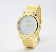 Men's Fashion Watch Quartz Silicone Band Gold