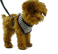 Dog Harness Gird Plaid Black Red Out Door Dog Harness Pet Products for Pets Dogs with 120cm Leash
