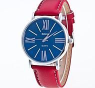 Мужской Модные часы Китайский Кварцевый Кожа Группа Повседневная Черный Белый Красный Коричневый