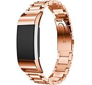 Três bead strap para fitbit 2 relógio inteligente - ouro rosa