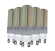 6W G9 Двухштырьковые LED лампы T 136 SMD 3014 500-600 lm Тёплый белый Естественный белый Белый Регулируемая Декоративная V 5 шт.