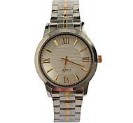 Мужской Модные часы Японский Японский кварц / Нержавеющая сталь Группа Повседневная Серебристый металл Серебряный