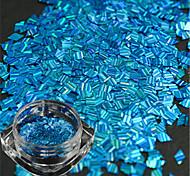 1 бутылка новой моды прекрасный голубой дизайн ногтей ромб лазерной полосой тонкий срез DIY красоты блеск ослепительно блестка украшения