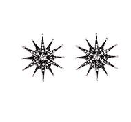 Серьги-кольца Кристалл По заказу покупателя Euramerican В форме звезды Белый/Черный Бижутерия Для 1 пара