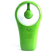 Holding a Mini USB Fan Dry Cell Dual Use Fan Small Whirlwind Hand-Held Fan