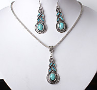 Jewelry Set Rhinestone Euramerican Fashion Resin Alloy Drop Necklace Earrings For Party Daily 1 Set
