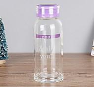 260ml de alta capacidade da garrafa de água de vidro transparente