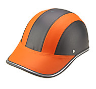 Motor Helmet Baseball Cap Style Safety Hard Hat Anti-UV  OrangeBlack